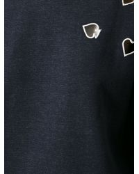 Carven - Blue Cut Out Detail Top - Lyst