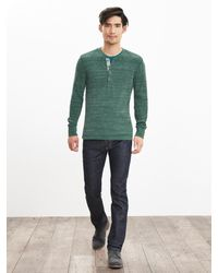 Banana Republic | Green Waffle-knit Neps 78 Henley for Men | Lyst