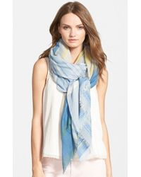 Hinge - Blue Stripe Jacquard Scarf - Lyst