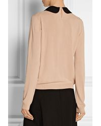 N°21 - Pink Embellished-Collar Knitted Sweater - Lyst