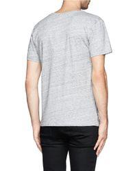 Maison Kitsuné - Gray Fox Head Print T-shirt for Men - Lyst