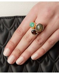 Monica Vinader | Metallic Gold-plated Emerald Candy Ring | Lyst
