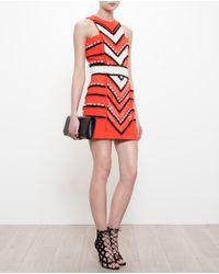 Balmain - Black Embellished Crepe Mini Dress - Lyst