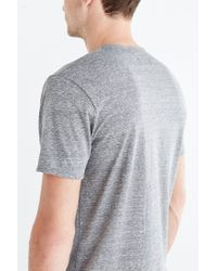 BDG | Gray Tri-blend Buttonless Standard-fit Henley Tee for Men | Lyst
