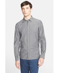 Norse Projects - Gray 'toke' Trim Fit Dot Print Shirt for Men - Lyst