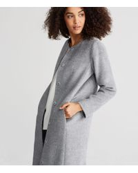 Eileen Fisher | Gray Suri Alpaca Long Coat | Lyst
