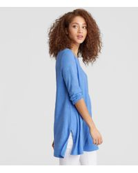 Eileen Fisher - Blue Exclusive Organic Linen Jersey Tunic - Lyst