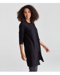 Eileen Fisher - Black Tencel Organic Cotton Silk Straight Cardigan - Lyst