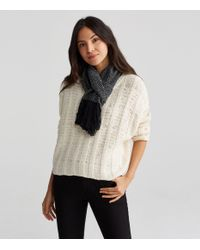 Eileen Fisher - Black Handwoven Peruvian Organic Cotton Scarf - Lyst
