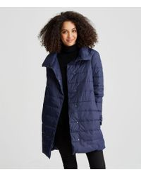 Eileen Fisher - Blue Weather Resistant Down Cocoon Coat - Lyst