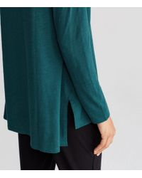 Eileen Fisher | Blue Organic Cotton Jersey Slub A-line Top | Lyst