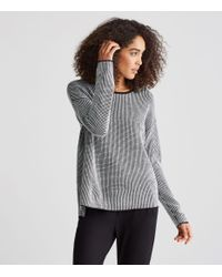 Eileen Fisher - Black Merino Waffle Stitch Box-top - Lyst