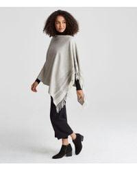 Eileen Fisher | Multicolor Undyed Alpaca Blanket Poncho | Lyst
