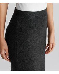 Eileen Fisher - Black Merino Interlock Pencil Skirt - Lyst