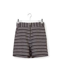 See By Chloé | Black Striped Shorts | Lyst