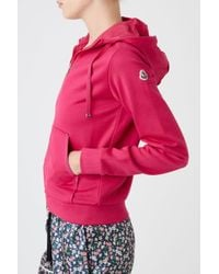 Moncler - Red Hoodie - Lyst