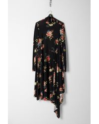 Vetements - Black Floral Draped Dress - Lyst