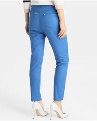 Yera - Blue Five-pocket Skinny Trousers - Lyst