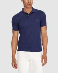 Polo Ralph Lauren - Blue Short Sleeved Slim-fit Polo Shirt for Men - Lyst