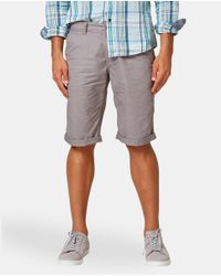 Esprit - Gray Grey Bermuda Shorts for Men - Lyst