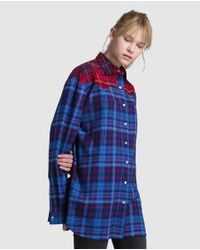 Tommy Hilfiger - Blue Long Check Print Shirt - Lyst