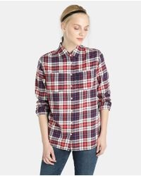 Tommy Hilfiger - Red Checked Shirt With Pockets - Lyst