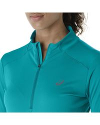 Asics - Blue Graphic Ss Top T-shirt - Lyst