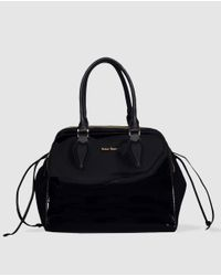 Robert Pietri - Black Faux Patent Leather Bowling Bag - Lyst