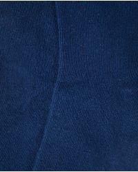 Punto Blanco - Blue Plain Bamboo Socks for Men - Lyst