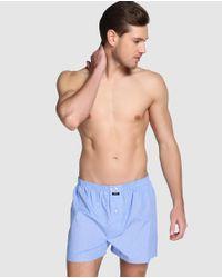 Mirto - Blue Boxer Shorts for Men - Lyst