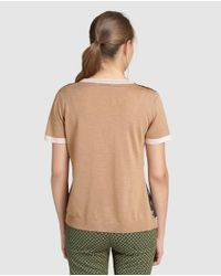 Yera - Green Short Sleeved Printed Sweater - Lyst