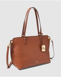 Lauren by Ralph Lauren - Anfield Brown Shopper Bag With A Removable Strap - Lyst