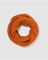 El Corte Inglés Orange Knitted Cowl