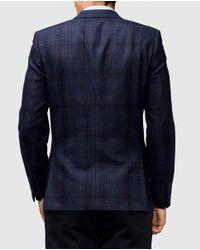 Mirto - Classic Blue Checked Blazer for Men - Lyst