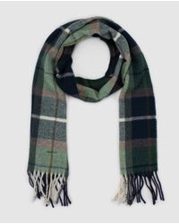 Gant | Green Multicoloured Checked Wool Scarf for Men | Lyst