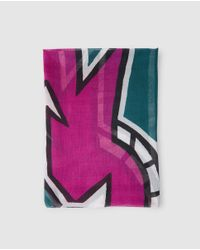 Gloria Ortiz - Multicolor Multicoloured Print Foulard - Lyst