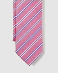 Mirto - Pink Silk Tie With Contrasting Stripes for Men - Lyst