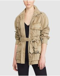 Polo Ralph Lauren - Natural Multi-pocket Jacket With Belt - Lyst