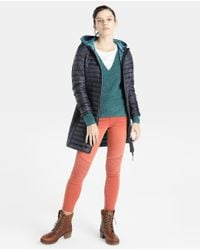 Esprit - Blue Lightweight Hooded Quilted Coat - Lyst