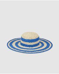 El Corte Inglés - Tan And Blue Striped Visor - Lyst