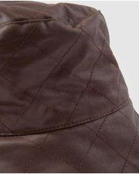 El Corte Inglés Dark Brown Rain Hat With Topstitching for men