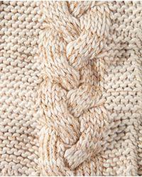 El Corte Inglés Natural Beige Knit Plaited Cowl