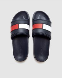 Tommy Hilfiger - Blue Sliders for Men - Lyst