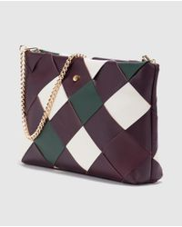 Gloria Ortiz - Multicolor Leather Messenger Bag With Tricoloured Print - Lyst