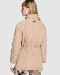 Yera | Brown Parka With Matching Belt | Lyst