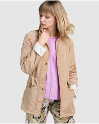 Yera - Brown Parka With Matching Belt - Lyst