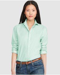 Polo Ralph Lauren | Basic Green Shirt | Lyst