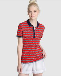 Tommy Hilfiger | Red Short-sleeve Printed Polo Shirt | Lyst