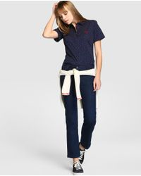 Tommy Hilfiger | Blue Short-sleeve Shirt With A Tiny Hearts Print | Lyst