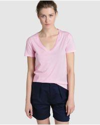 Polo Ralph Lauren | Pink V-neck T-shirt | Lyst